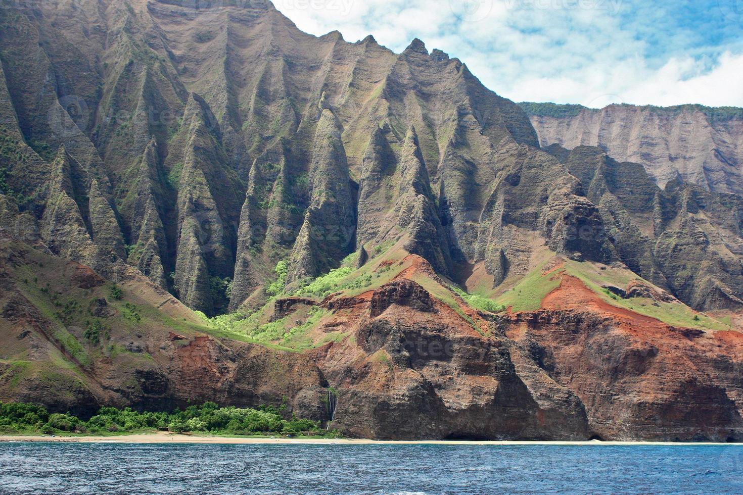 na pali kust in Kauai'i, Hawaï-eilanden foto