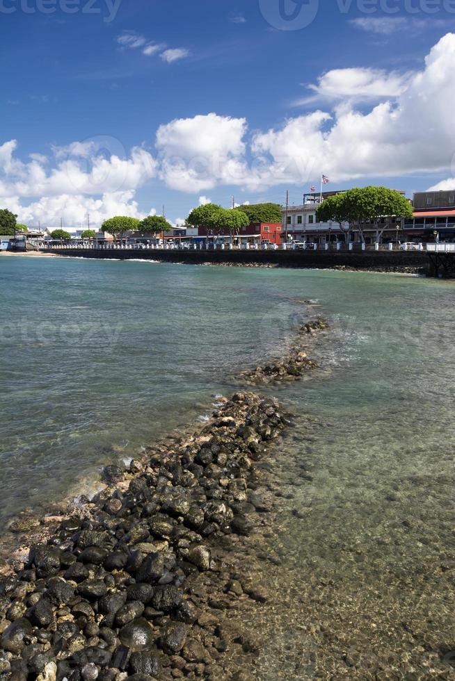 Vista de la calle principal de Lahaina, Maui, Hawaii foto
