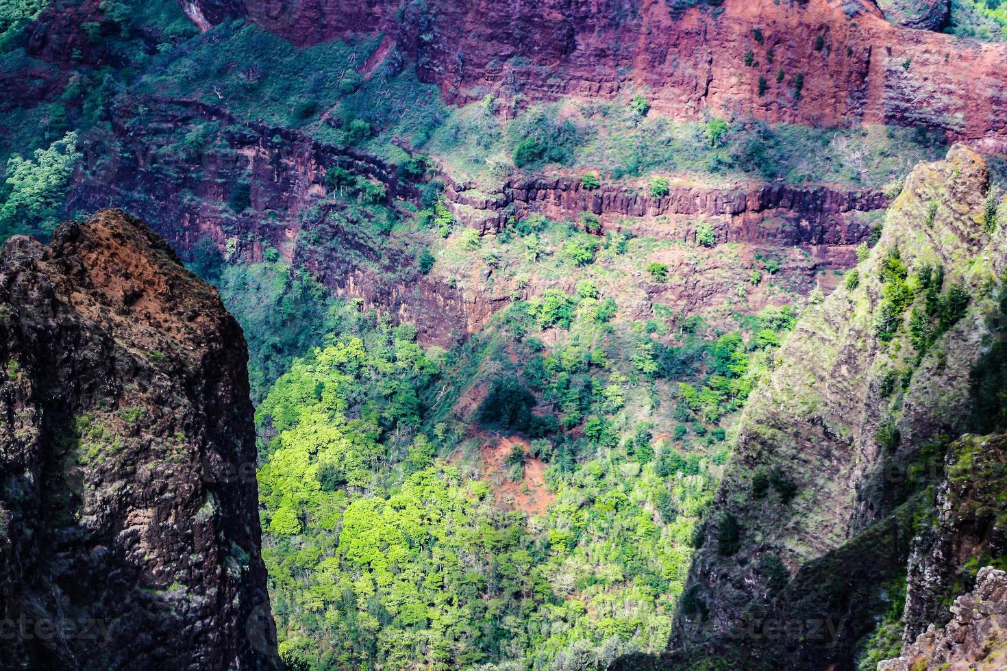 parque estadual canyon weimea, kauai, havaí foto