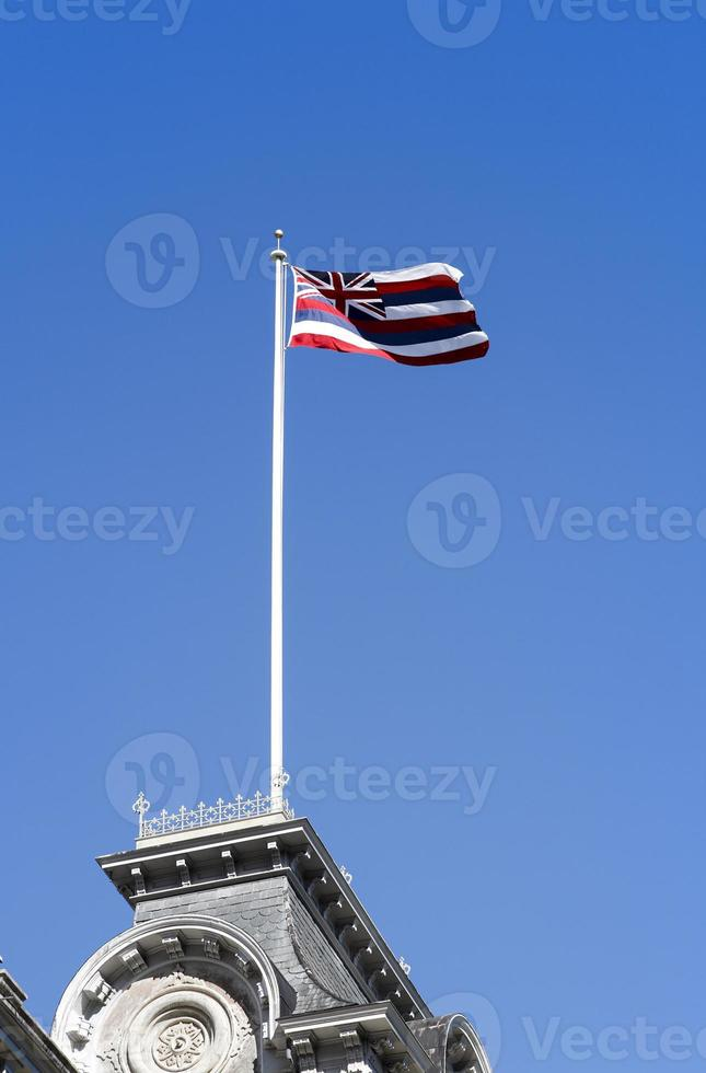 a bandeira do estado do Havaí. foto