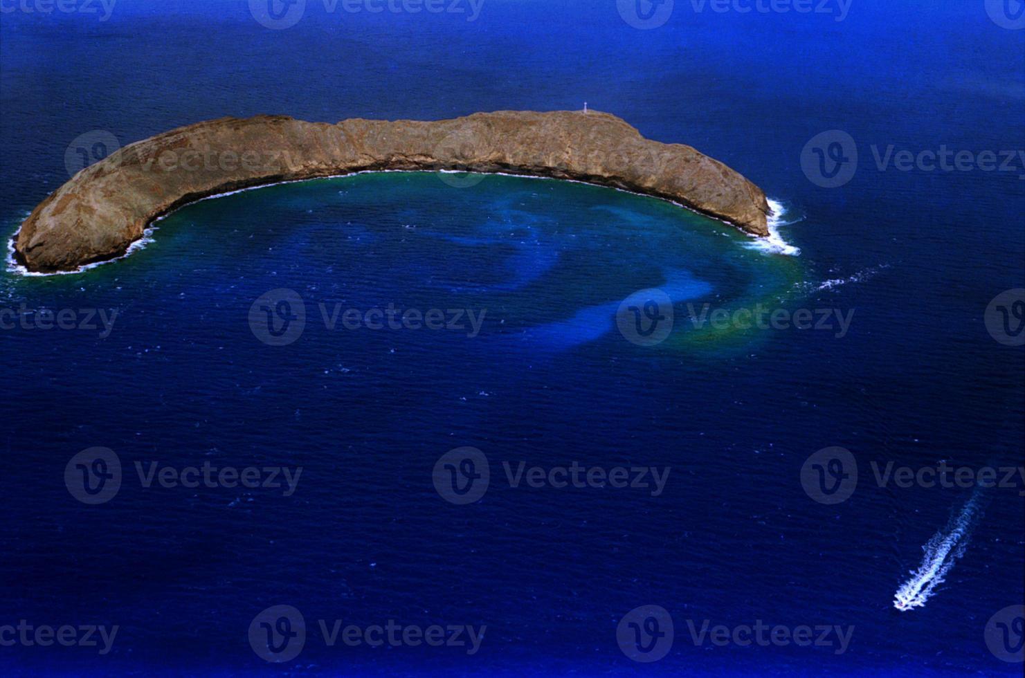 cráter molokini foto