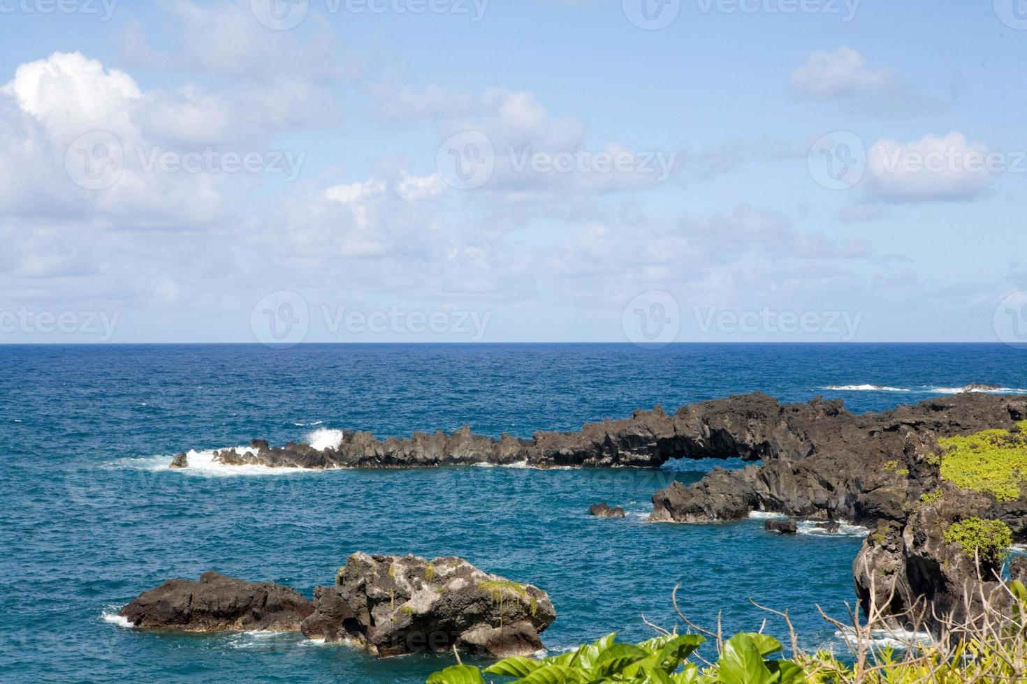 punto de lava y puente natural foto