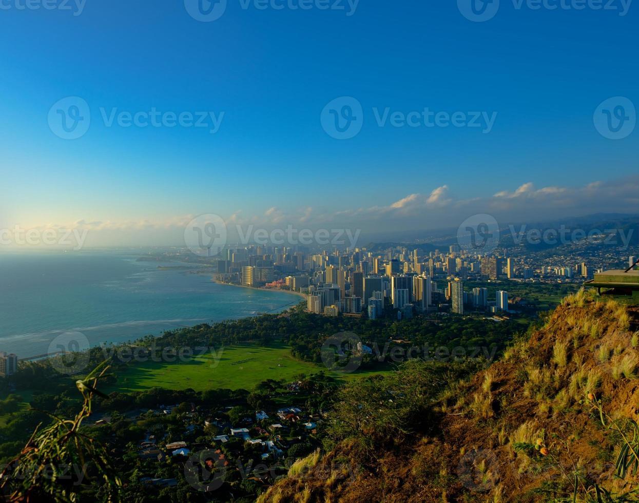 Waikiki de Diamond Head, Oahu foto