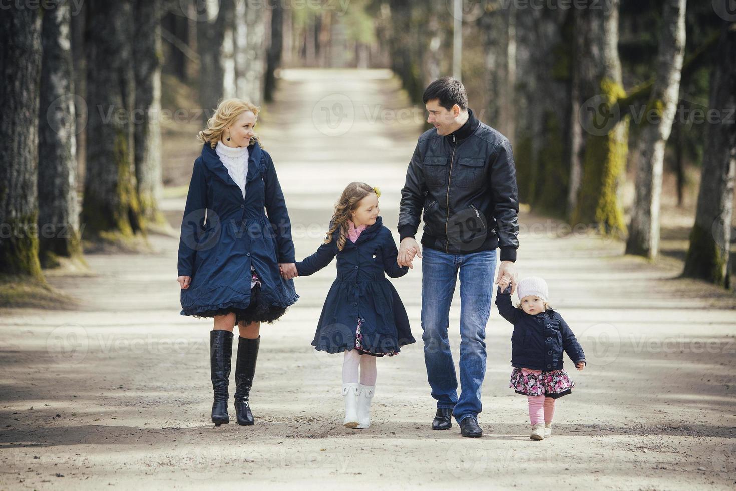 familie in het park foto