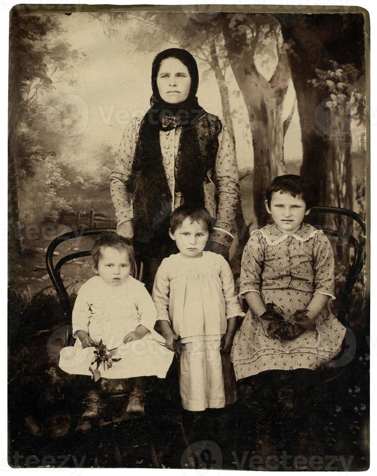 Vintage family portrait. photo