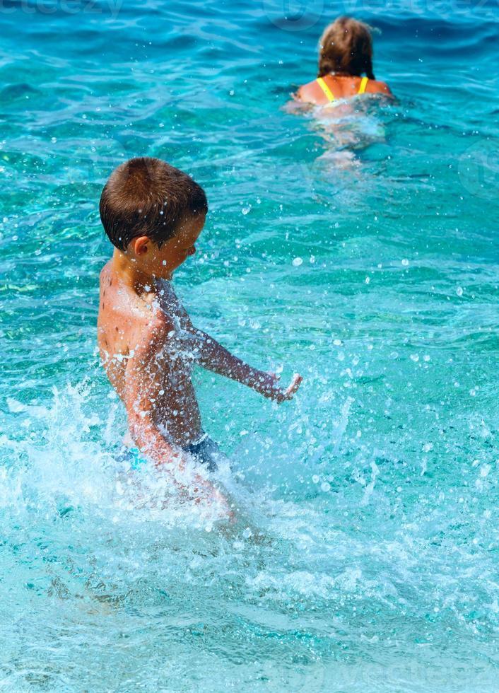 Vacaciones de verano en el mar (Grecia). foto