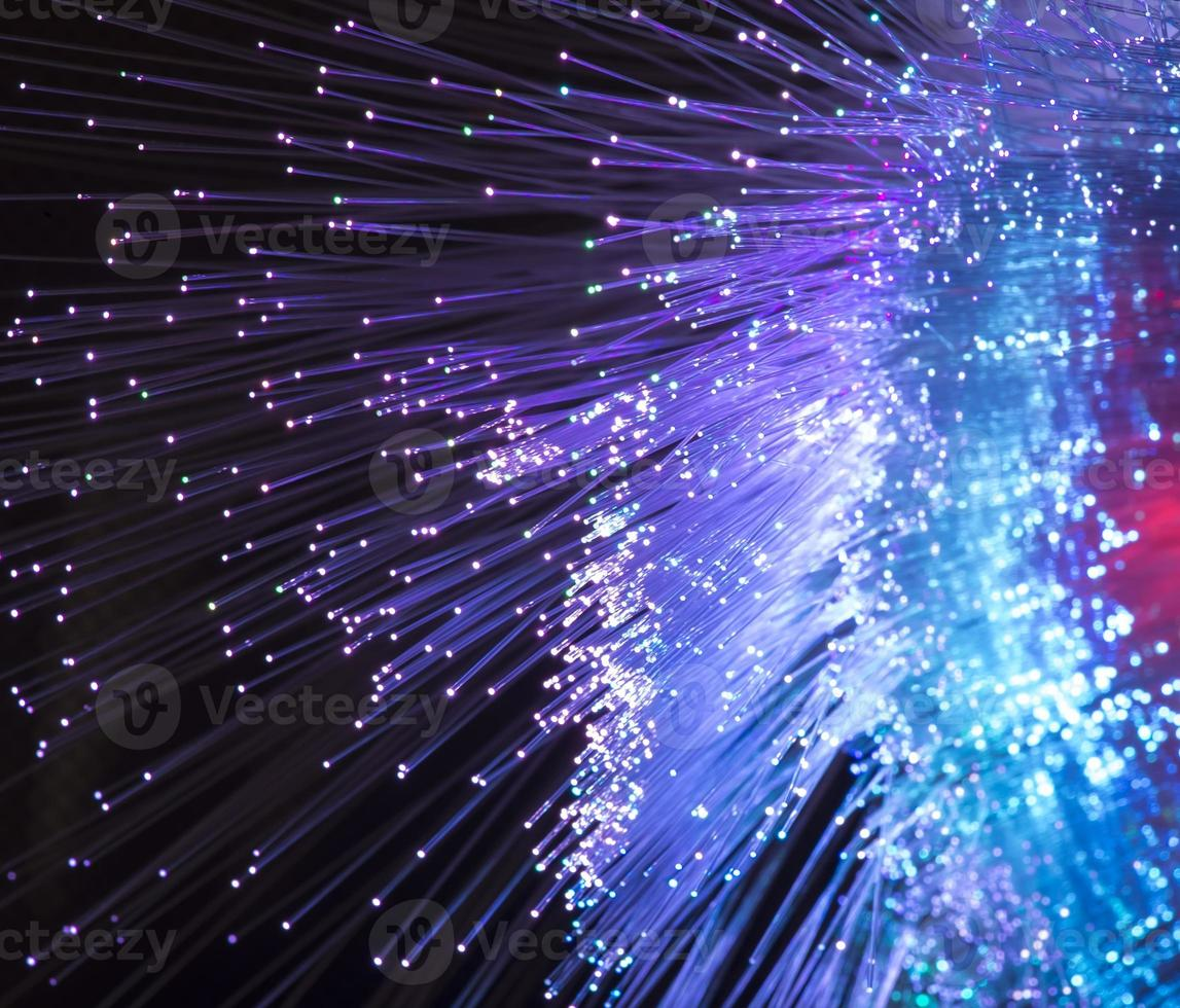cables de fibra óptica foto