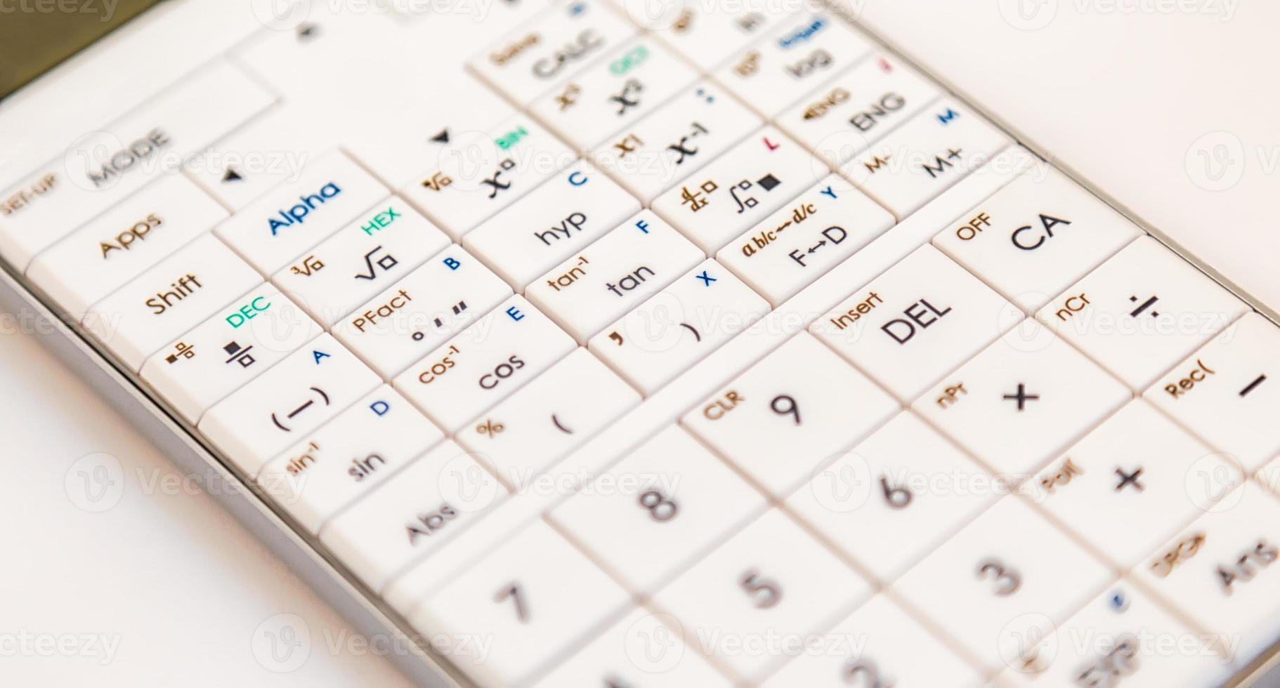 Modern scientific calculator photo