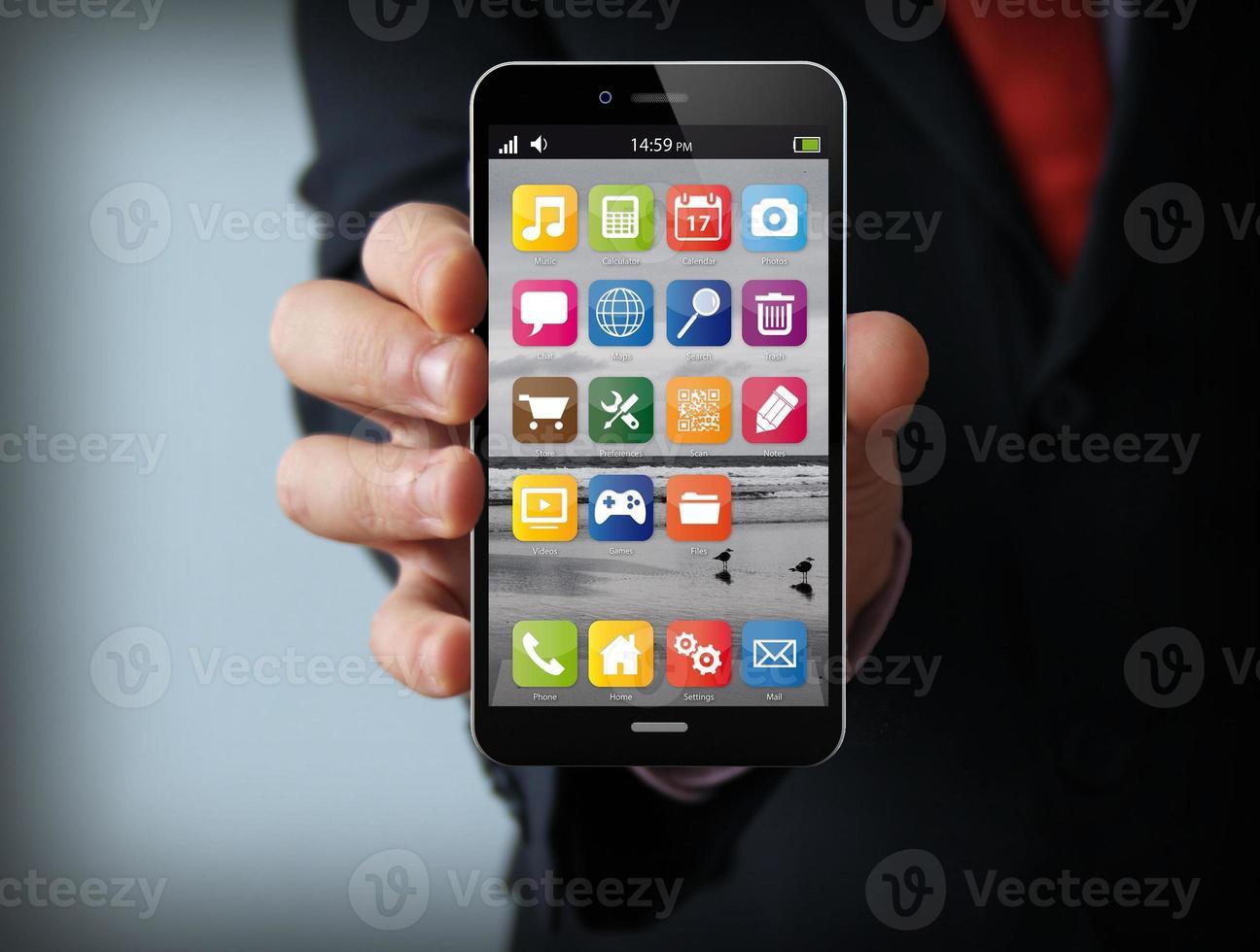 interface businessman smartphone photo