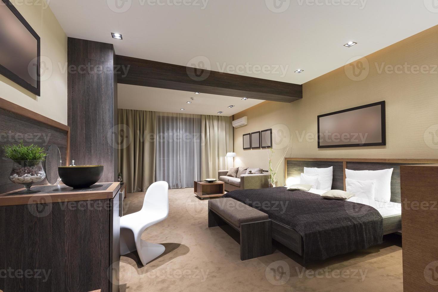 Modern luxury bedroom interior photo