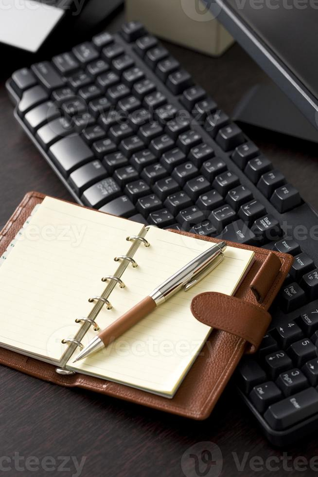 teclado y organizador foto