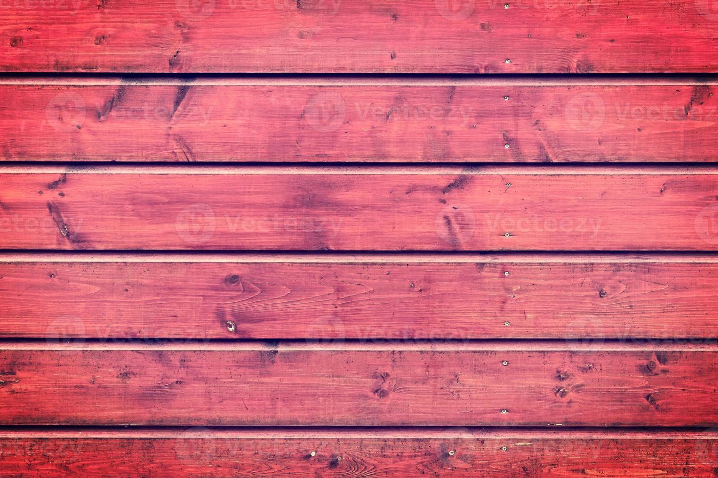 la textura de madera roja con patrones naturales foto