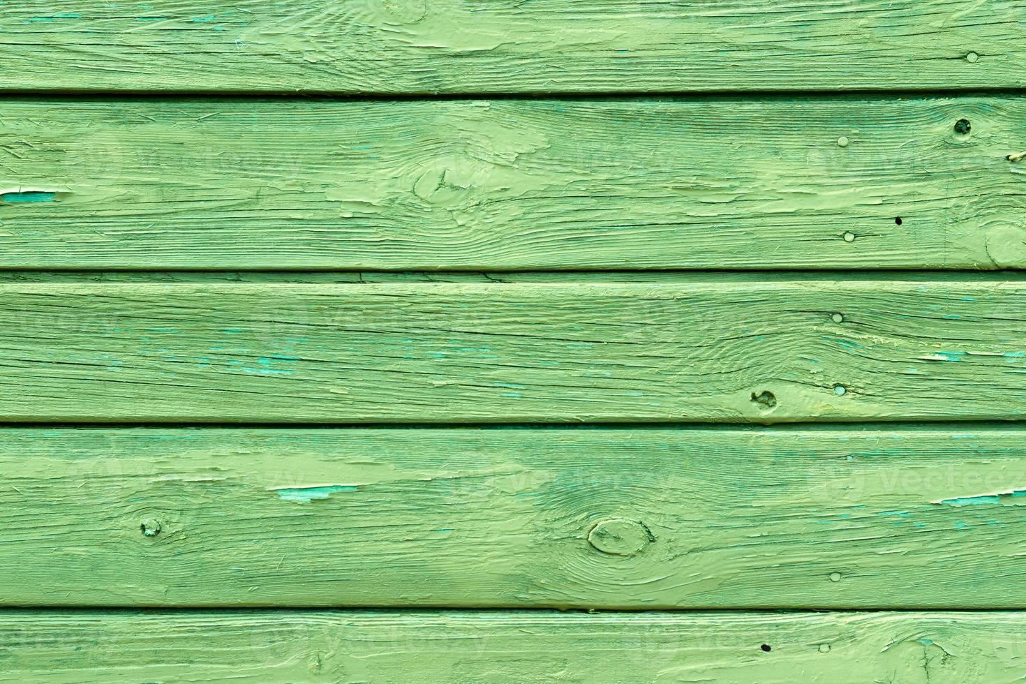 la textura de madera verde con patrones naturales foto