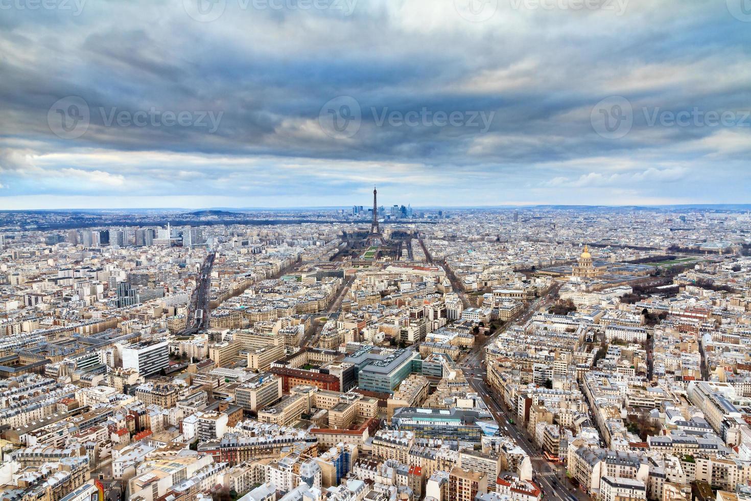 Dramatic Paris cityscape photo