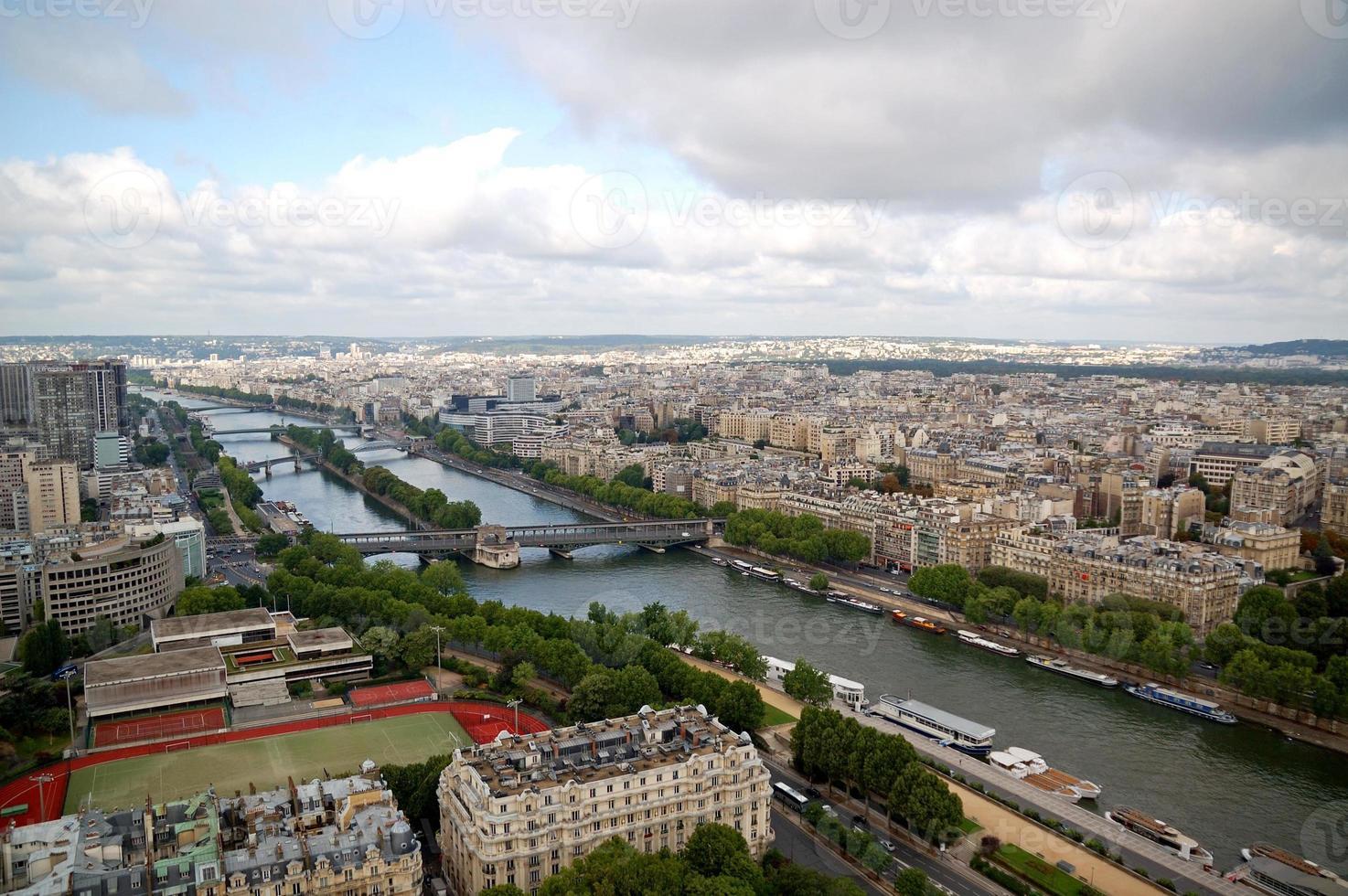 Paris aerial panorama photo