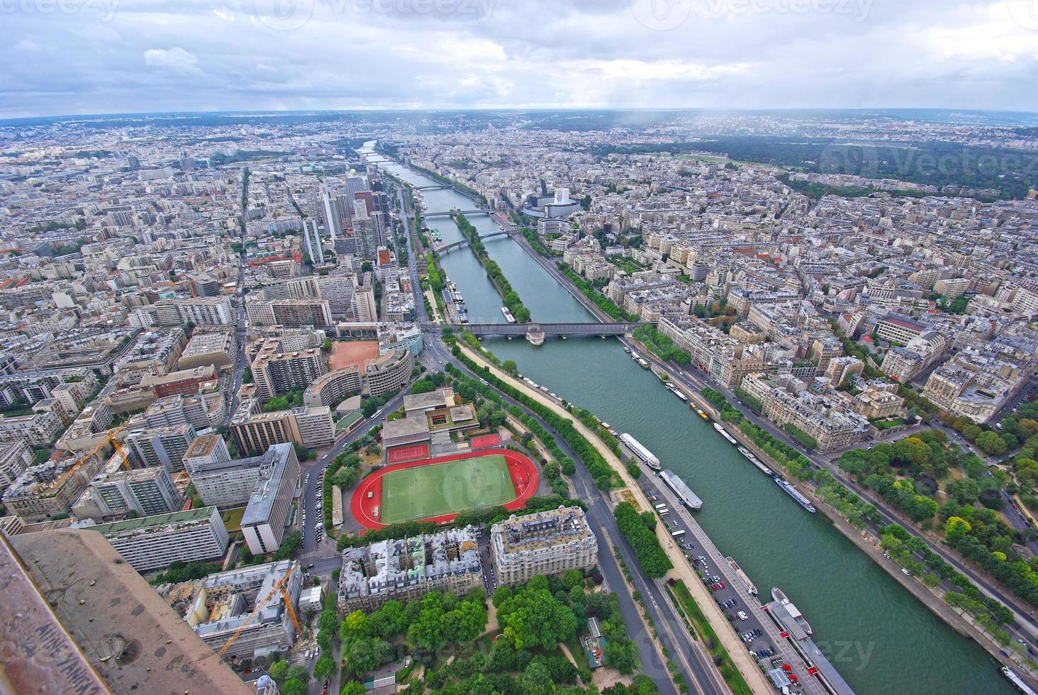 París, vista aérea foto