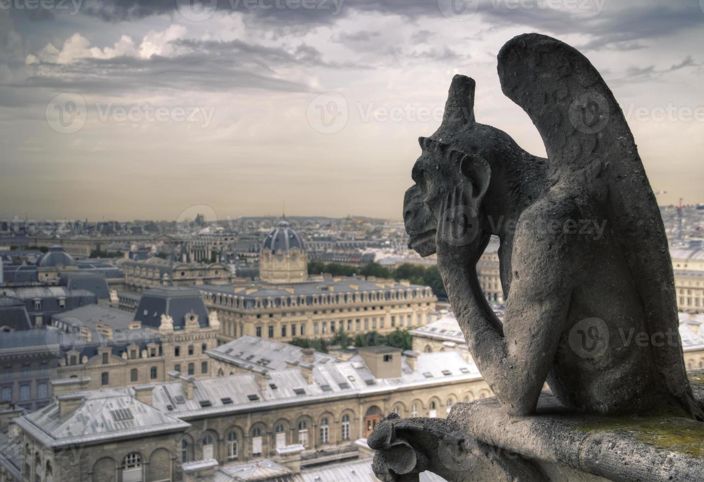 Famous Notre Dame Gargoyle photo
