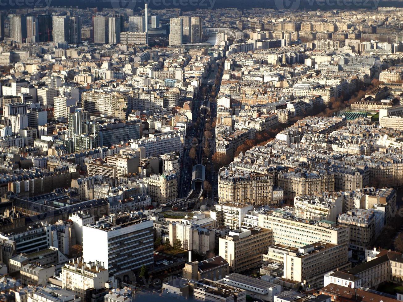Paris aerial view photo