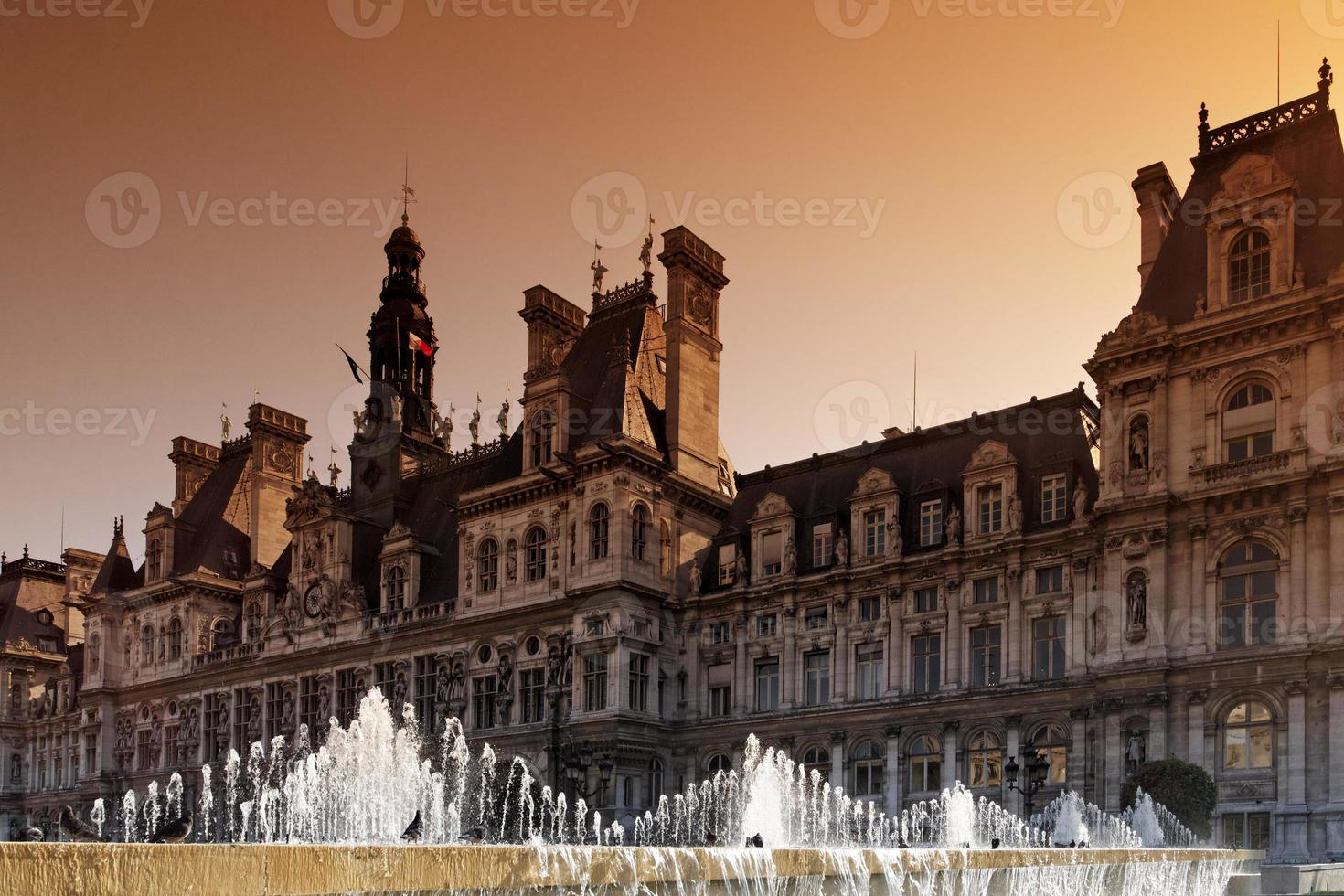 Paris town hall in chatelet photo