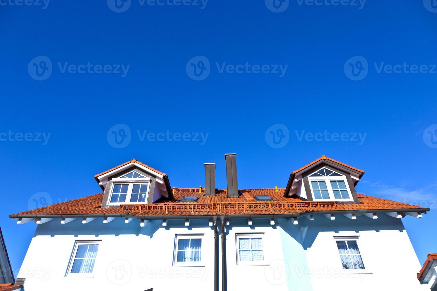 generic family home in suburban area photo