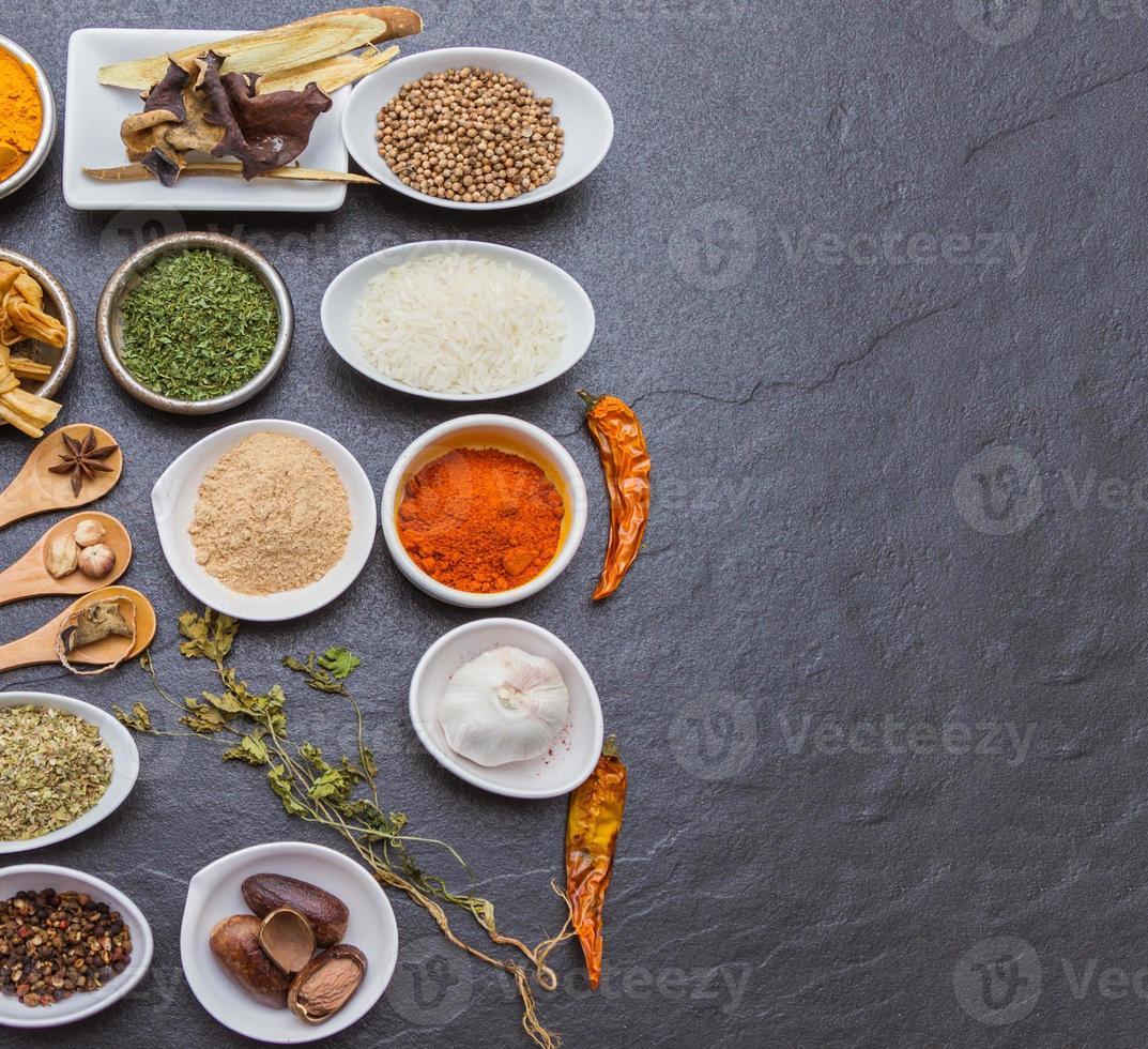 Mix spices background. photo