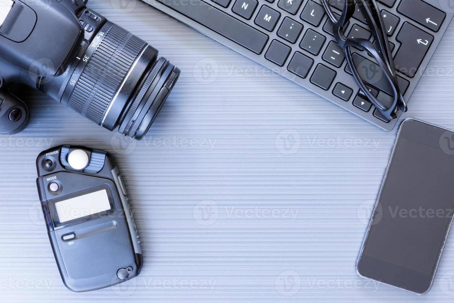 escritorio del fotógrafo foto