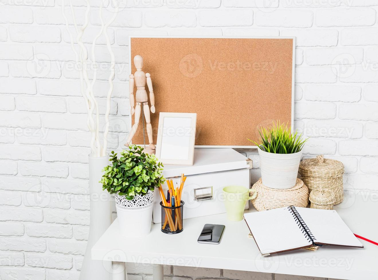 elegante espacio de trabajo en casa foto