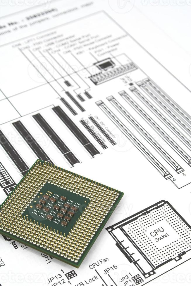 instruction manual with cpu photo