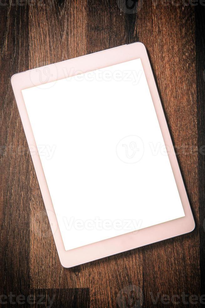tableta de pantalla en blanco foto