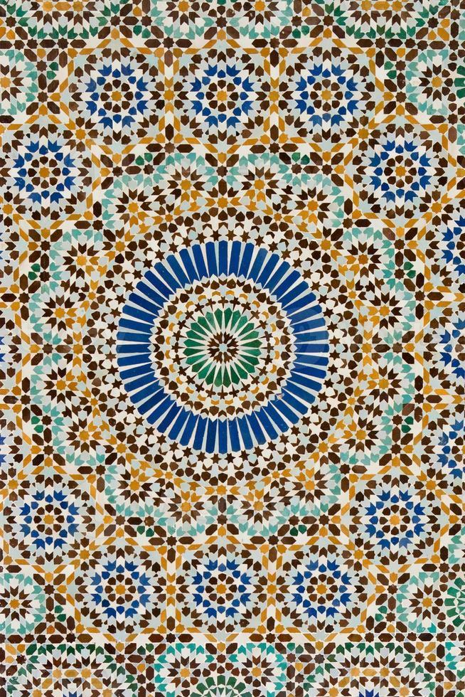 Floor detail Mosque Paris photo