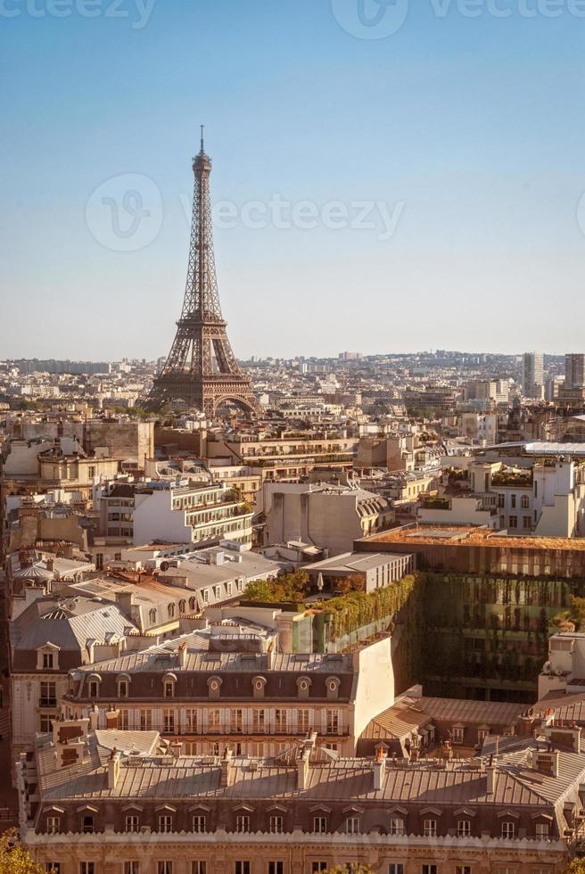 Paris, Tour Eiffel at sunset photo