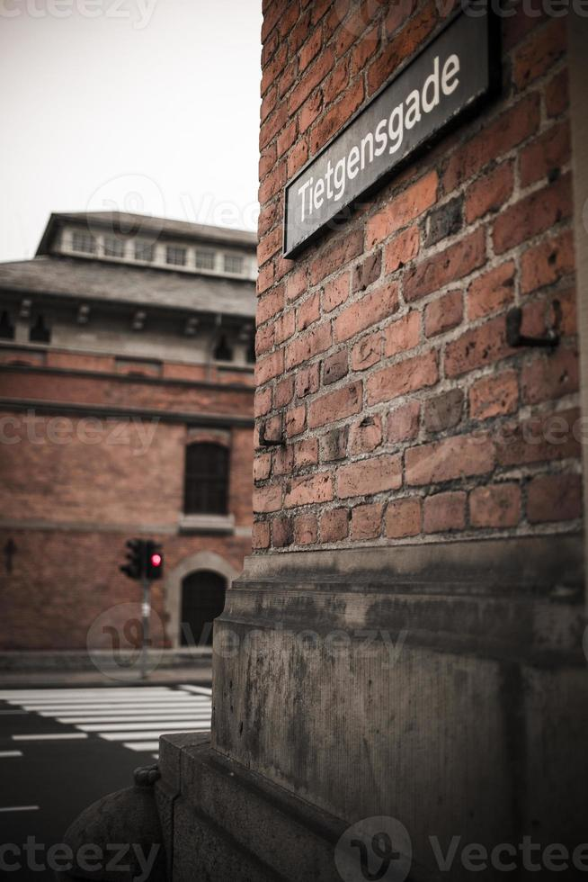 Copenhague, Nyhavn y edificios antiguos de la ciudad foto