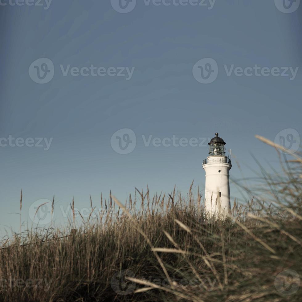 Hirtshals Lighthouse in Denmark's far North photo