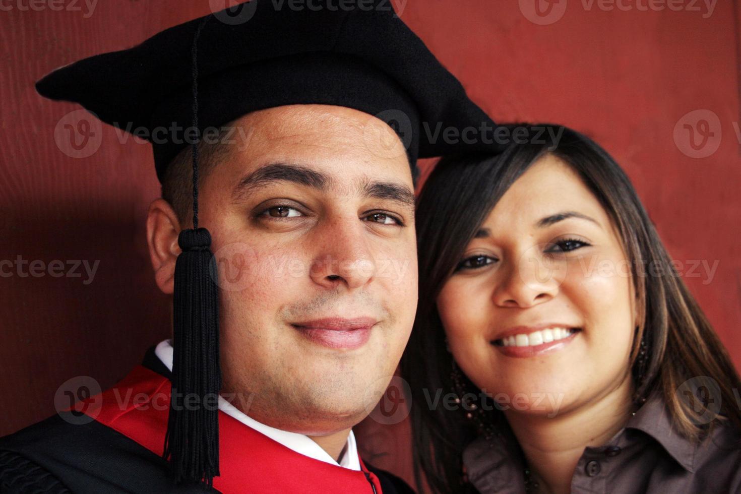 retrato del día de graduación foto