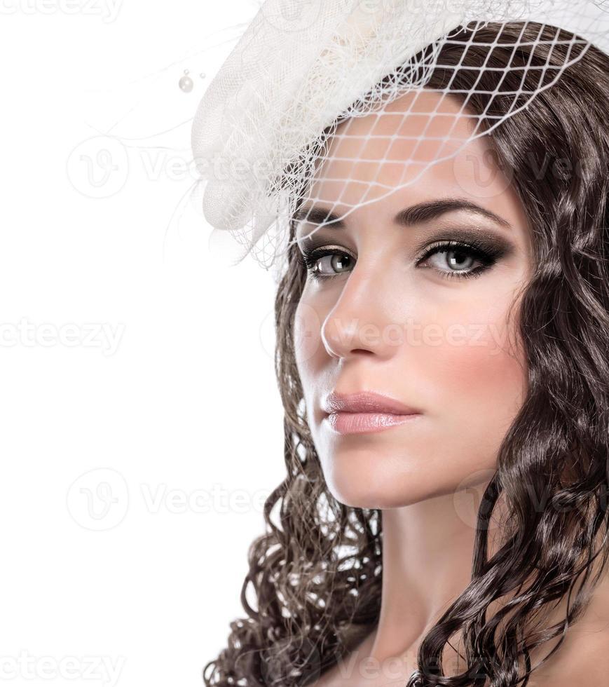 Stylish bride portrait photo