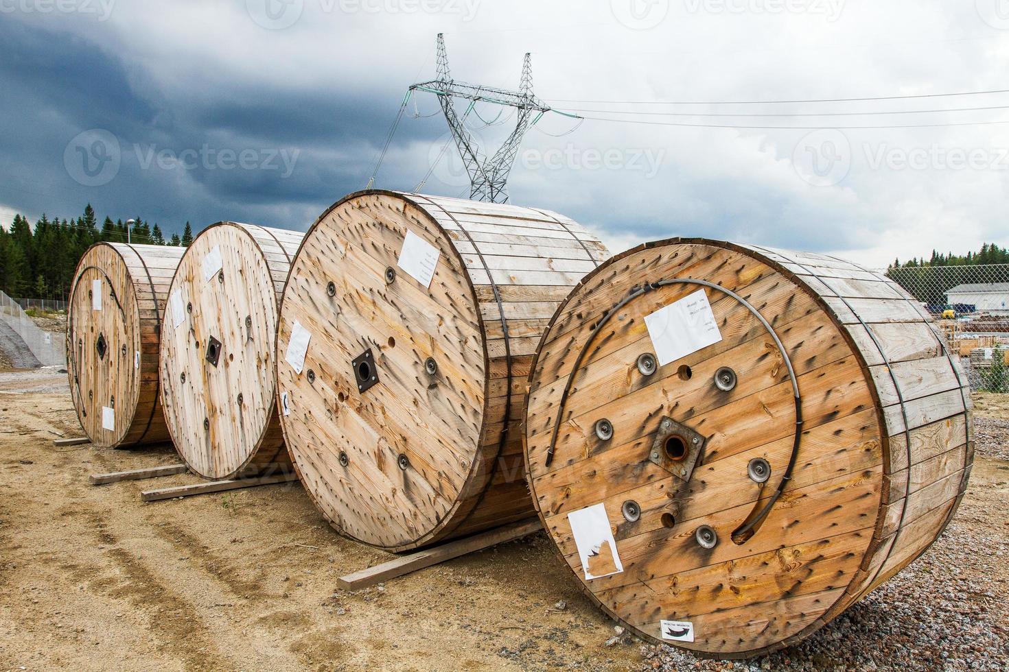 rollos de alambre de acero foto