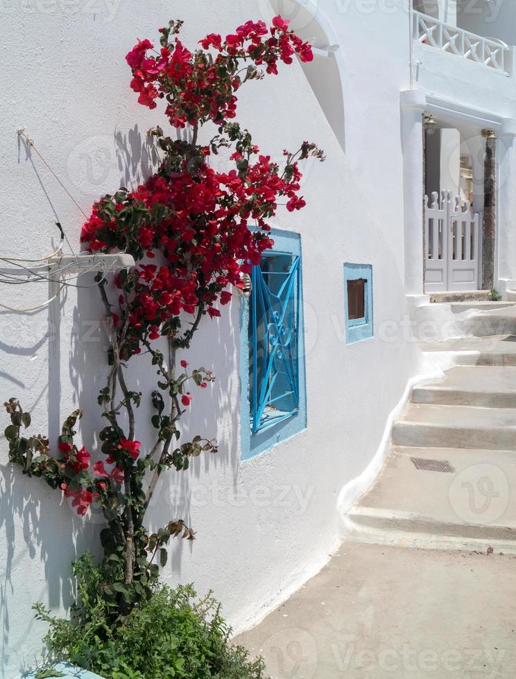 arquitectura tradicional de la aldea de oia en la isla de santorini, gre foto