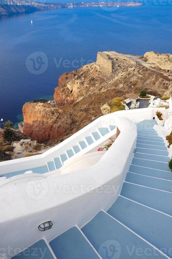 pasos a la playa, grecia foto