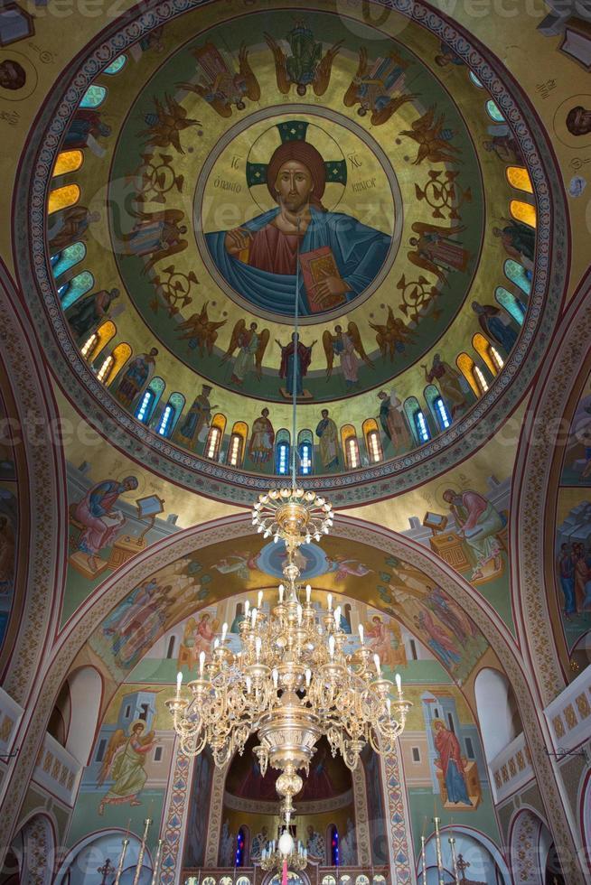Pintura religiosa en la iglesia ortodoxa, santorini foto
