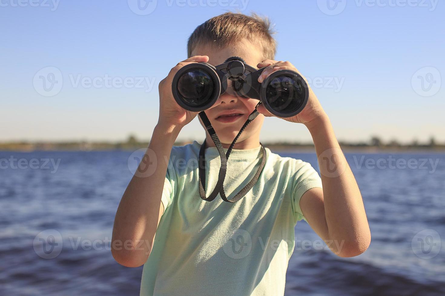 watching through binoculars photo