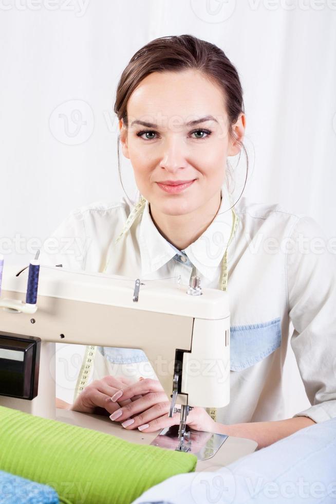 retrato de costurera foto