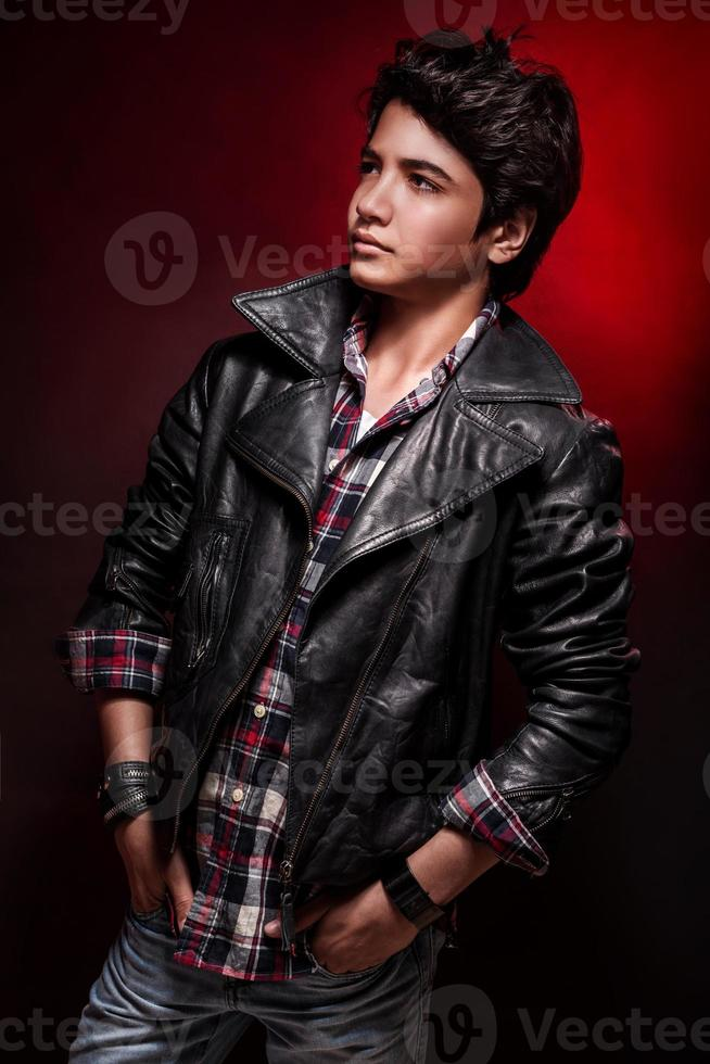 Handsome boy portrait photo