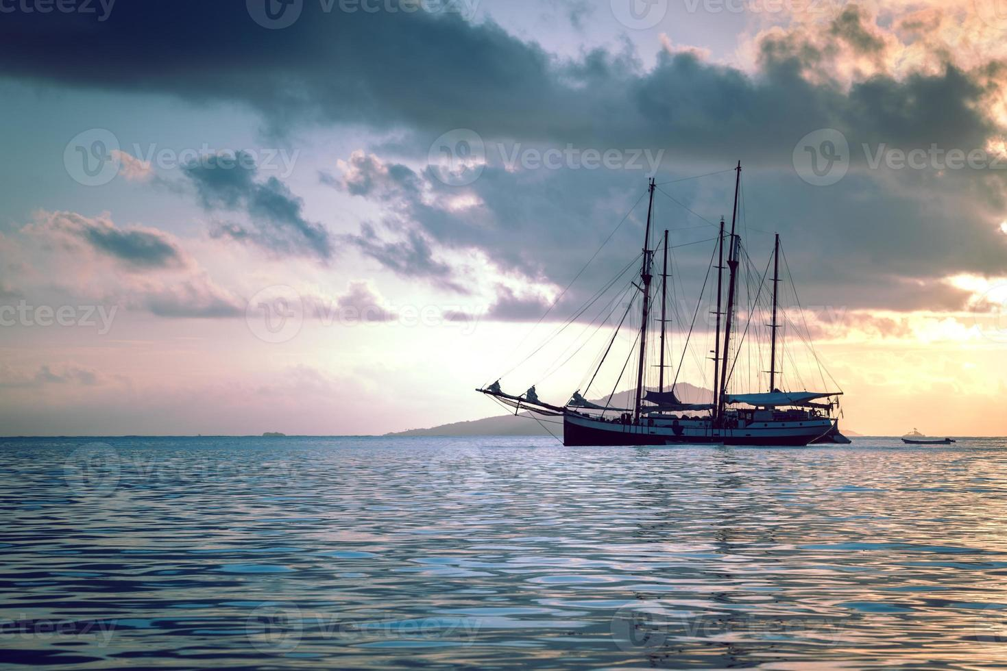 Recreational Yacht at the Indian Ocean photo