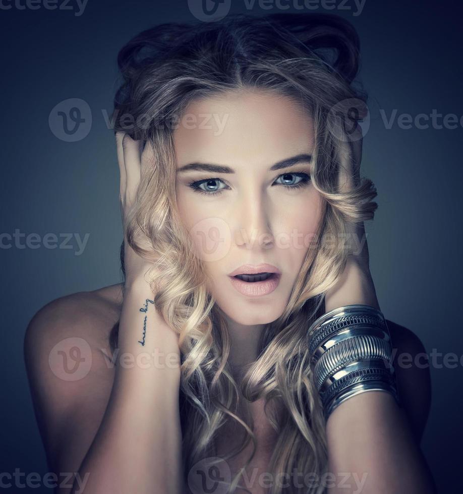 Fashion model portrait photo