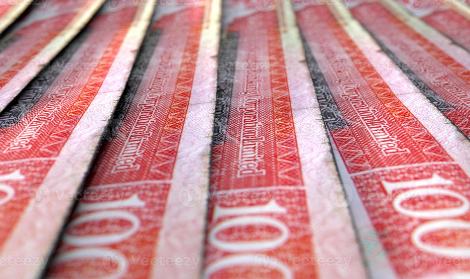 Lined Up Close-Up Banknotes photo