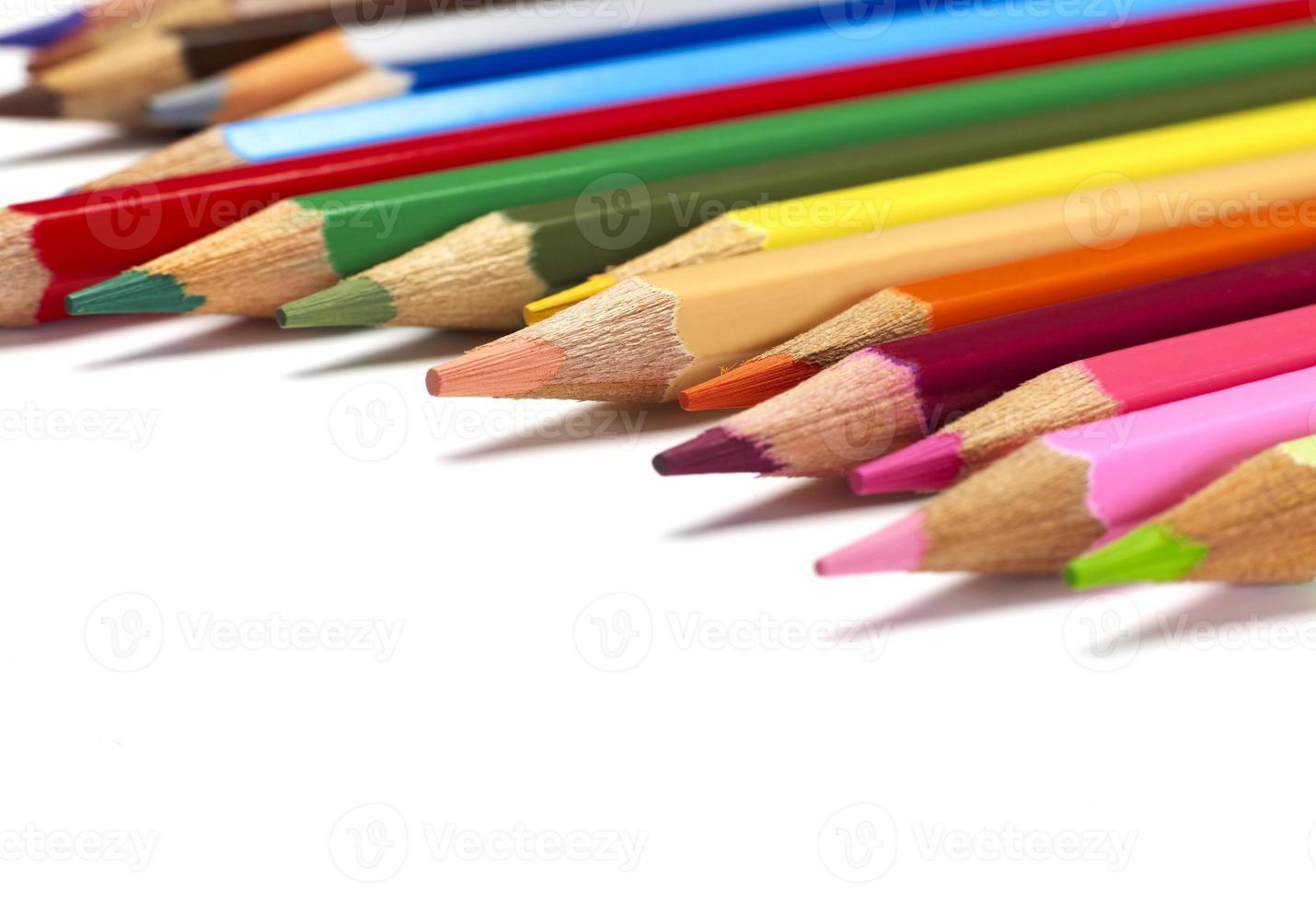 primer plano de lápices foto