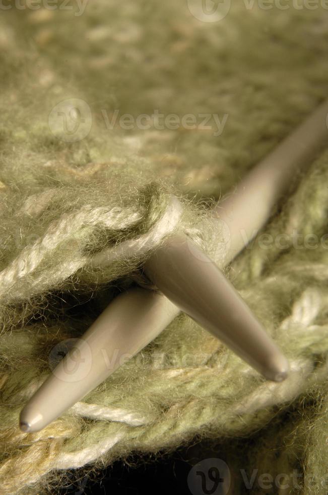 Close-up  knitting photo