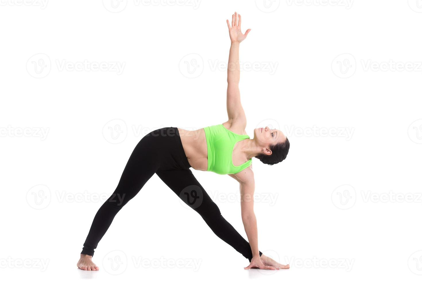 Yoga Triangle pose photo
