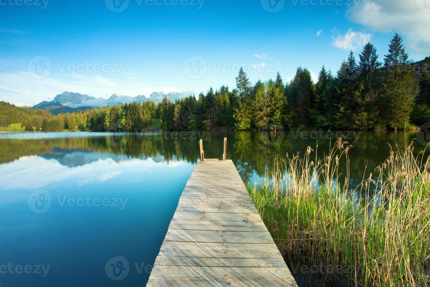 crystal clear mountain lake photo
