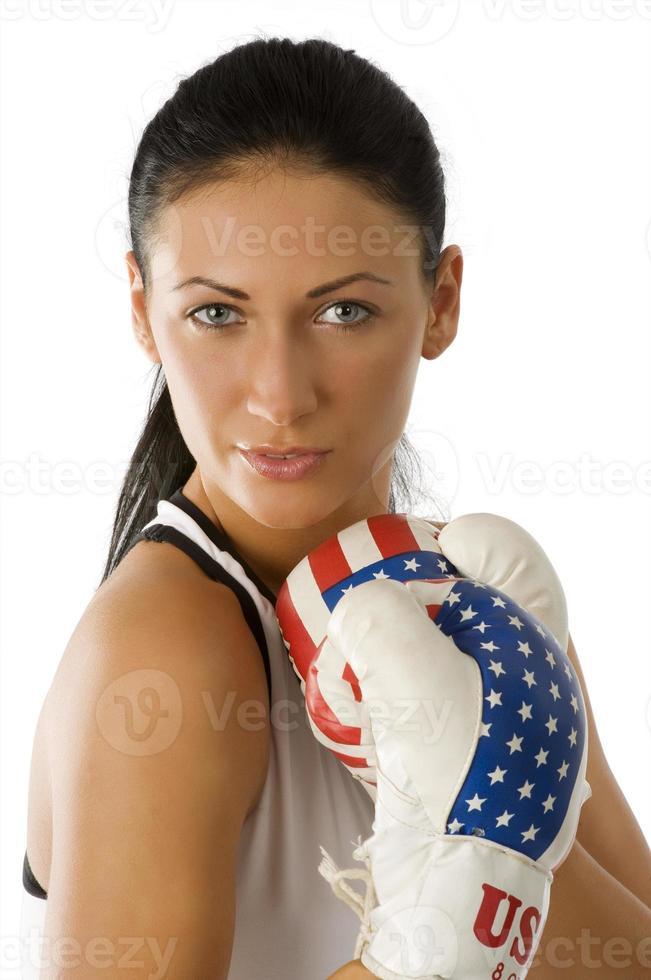 portrait boxing woman photo